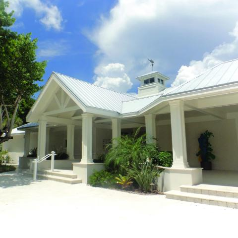 Exterior shot of the Captiva Memorial Library building
