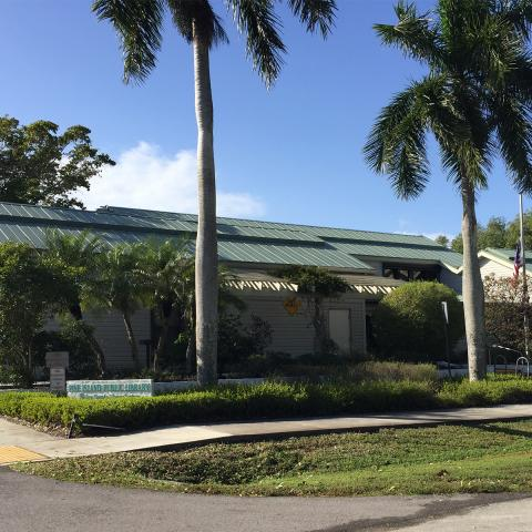 Exterior shot of the Pine Island Public Library