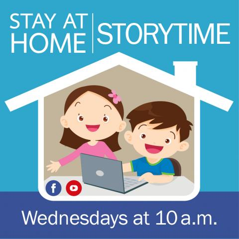 Stay At Home Storytime Graphic